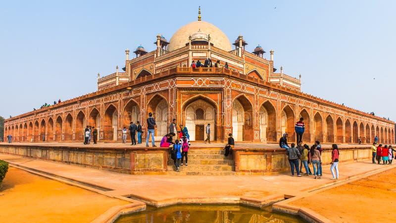Τάφος Humayun σύνθετος, ο τάφος του αυτοκράτορα Humayun Mughal μέσα στοκ εικόνα