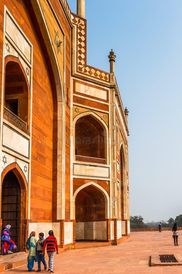 Τάφος Humayun σύνθετος, ο τάφος του αυτοκράτορα Humayun Mughal μέσα στοκ εικόνες