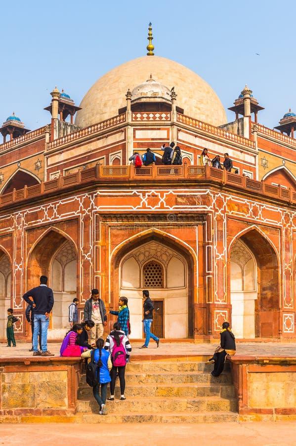 Τάφος Humayun σύνθετος, ο τάφος του αυτοκράτορα Humayun Mughal μέσα στοκ εικόνα με δικαίωμα ελεύθερης χρήσης