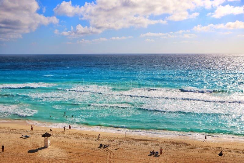 Τέλεια ημέρα σε Cancún στοκ εικόνα