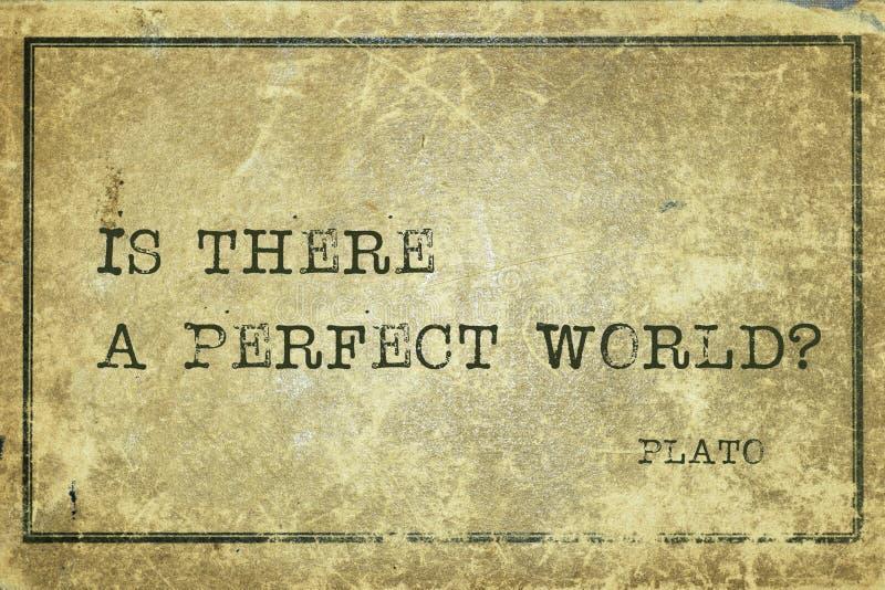Τέλειος κόσμος Πλάτωνας στοκ εικόνα