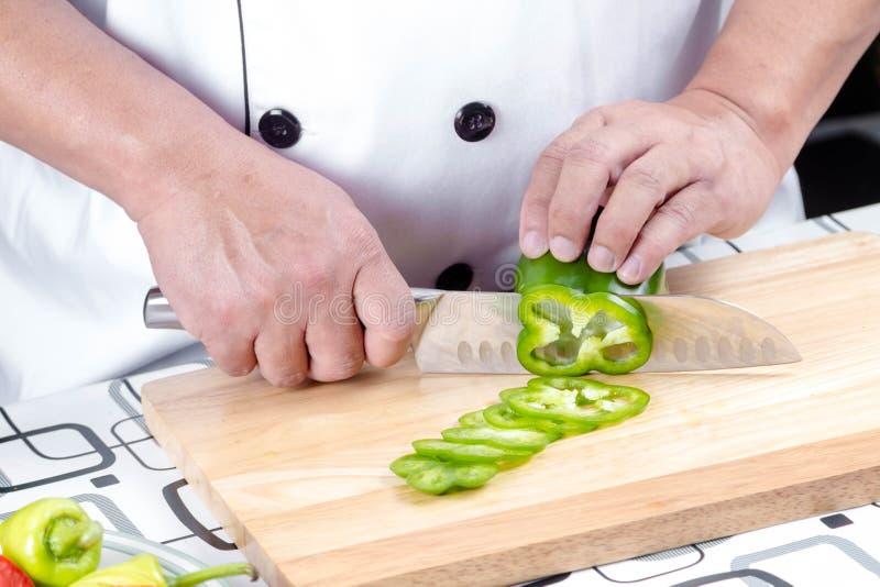 Τέμνον πιπέρι αρχιμαγείρων στοκ εικόνες