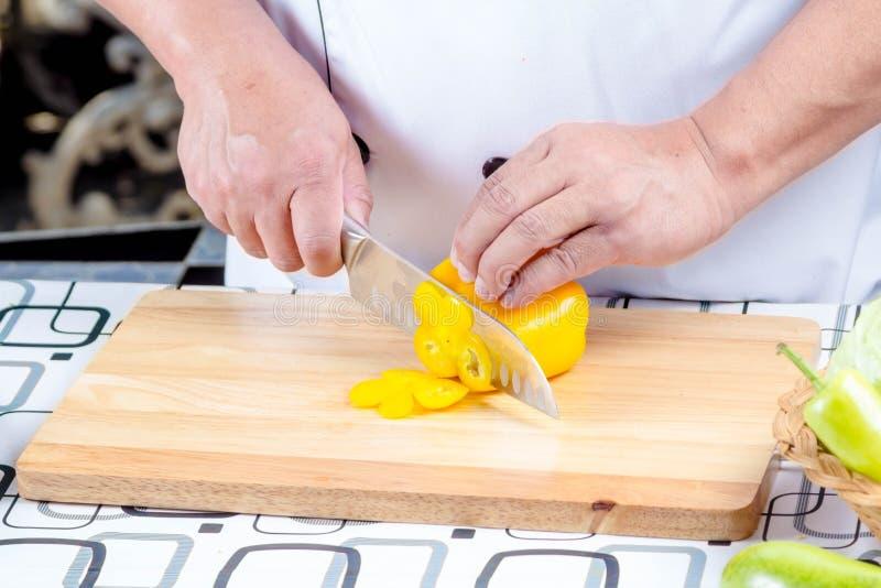 Τέμνον πιπέρι αρχιμαγείρων στοκ φωτογραφία με δικαίωμα ελεύθερης χρήσης