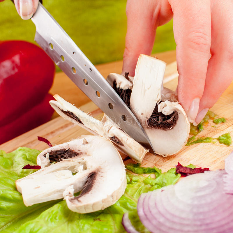 Τέμνον champignon μανιταριών στοκ φωτογραφία με δικαίωμα ελεύθερης χρήσης