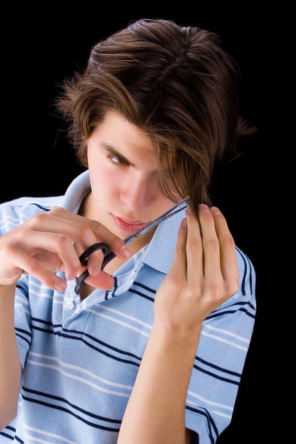 τέμνων έφηβος τριχώματος στοκ φωτογραφία με δικαίωμα ελεύθερης χρήσης