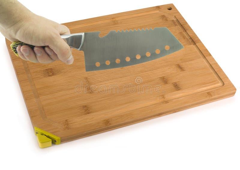 Τέμνων στενός επάνω μαχαιριών πινάκων και κουζινών Για το σας στοκ εικόνα με δικαίωμα ελεύθερης χρήσης