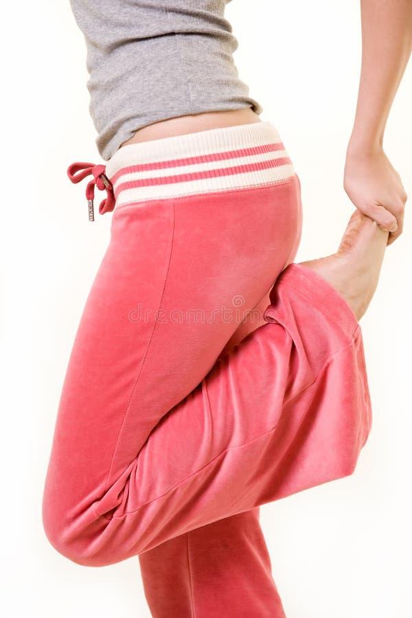 τέντωμα ποδιών στοκ εικόνες με δικαίωμα ελεύθερης χρήσης