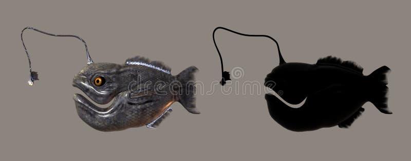 τέρας ψαριών διανυσματική απεικόνιση