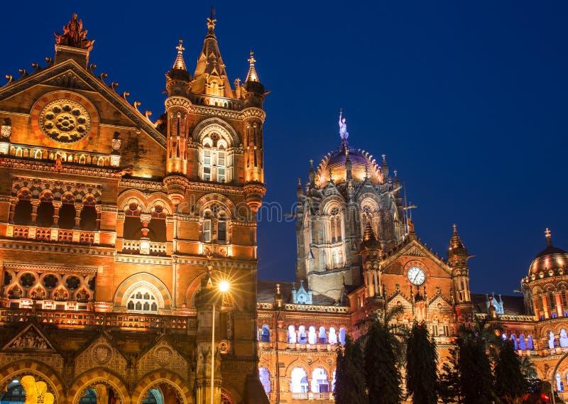 Τέρμα Shivaji Chatrapati γνωστό νωρίτερα ως τέρμα Βικτώριας στοκ φωτογραφία