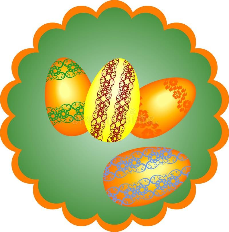 Χρωματισμένα Πάσχα αυγά, διανυσματική απεικόνιση απεικόνιση αποθεμάτων