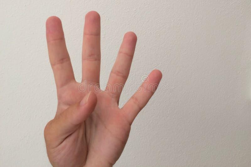 Τέσσερα δάχτυλα στοκ εικόνα με δικαίωμα ελεύθερης χρήσης
