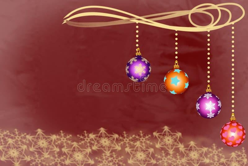 Τέσσερα κύπελλα διακοσμήσεων Χριστουγέννων με snowflakes ελεύθερη απεικόνιση δικαιώματος