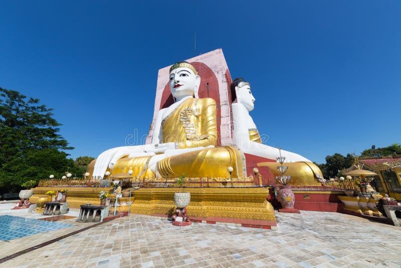 Τέσσερα πρόσωπα του Βούδα, Kyaikpun Βούδας, Bago, το Μιανμάρ στοκ φωτογραφία με δικαίωμα ελεύθερης χρήσης