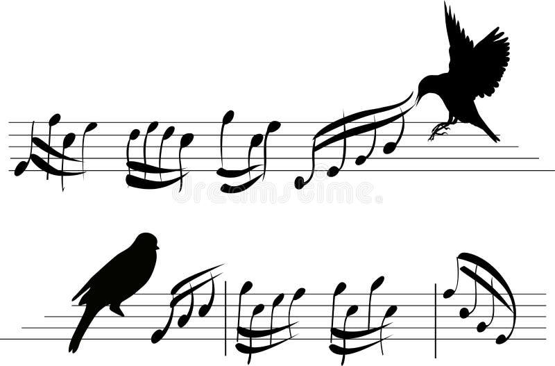 Τέσσερα σύνολο σημειώσεων μουσικής μουσικό σύνολο στοιχείων σχεδίου απεικόνιση αποθεμάτων