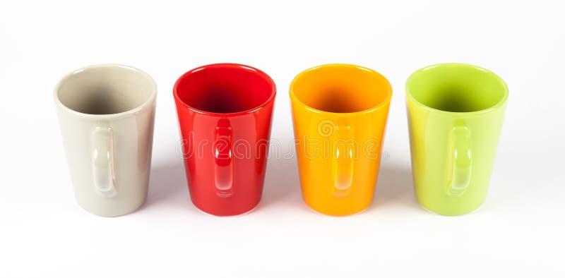 Τέσσερα φλυτζάνια τσαγιού χρώματος στοκ φωτογραφία με δικαίωμα ελεύθερης χρήσης