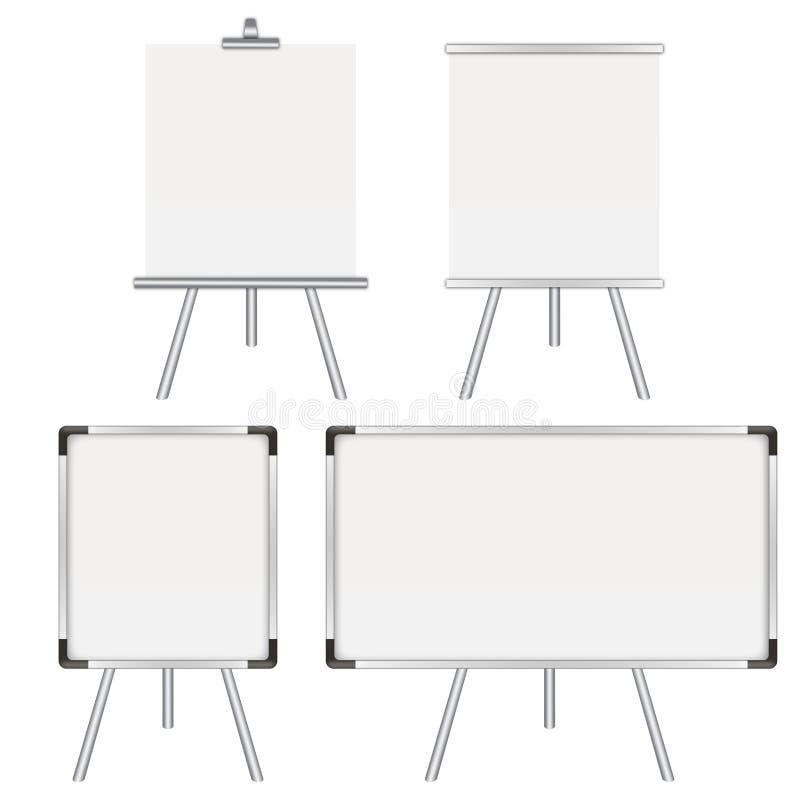 Τέσσερα whiteboards ελεύθερη απεικόνιση δικαιώματος