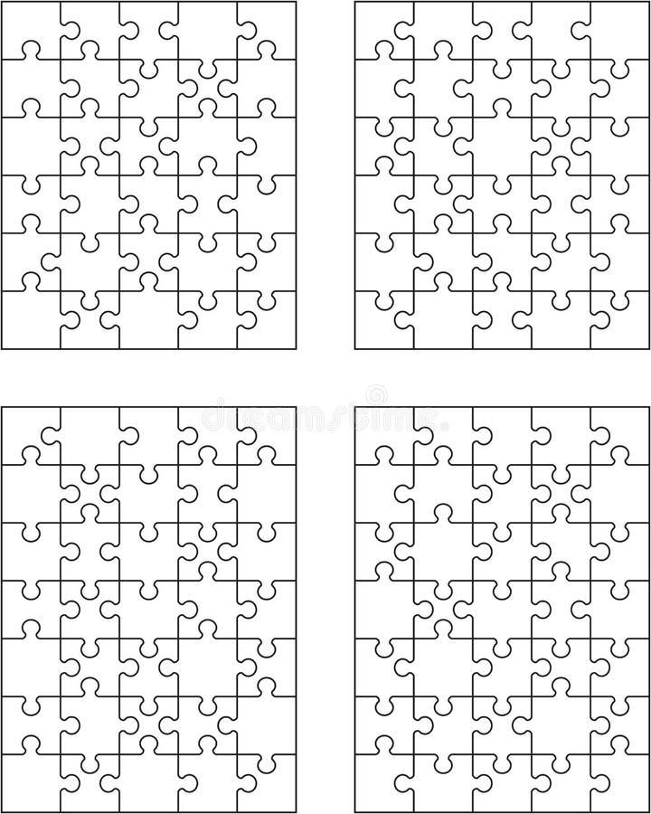 Τέσσερις διαφορετικοί άσπροι γρίφοι απεικόνιση αποθεμάτων