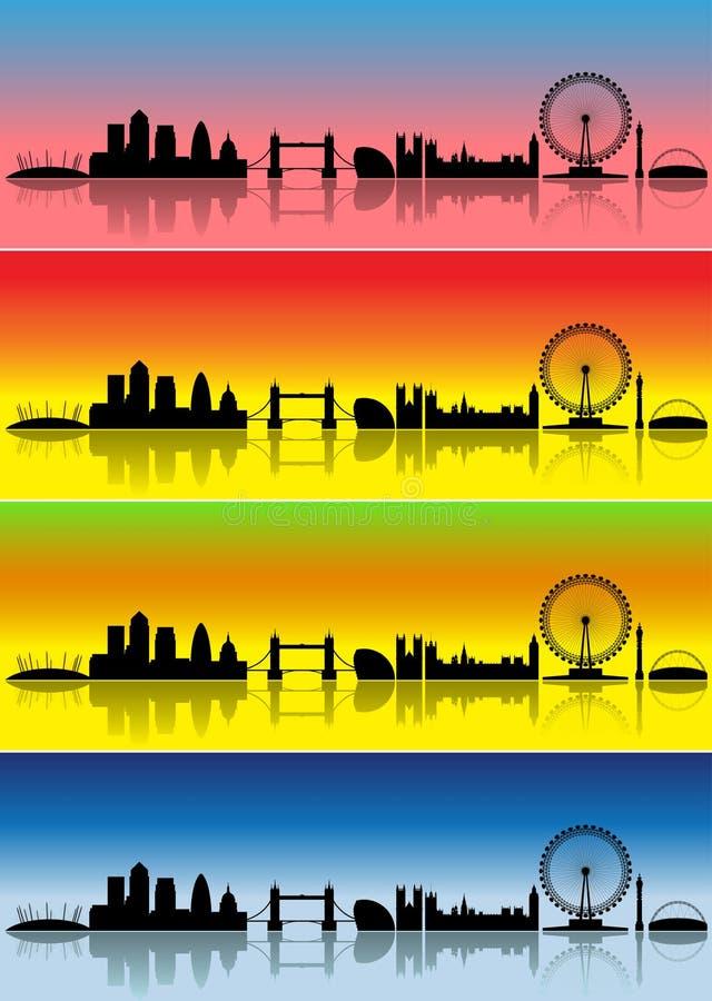 τέσσερις εποχές του Λονδίνου ελεύθερη απεικόνιση δικαιώματος
