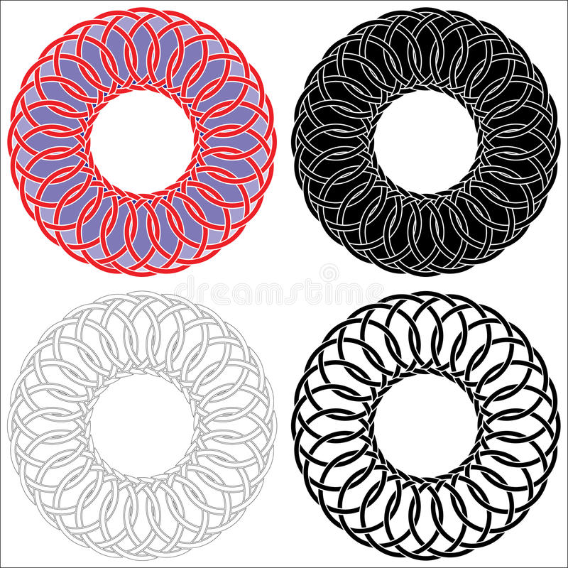 Τέσσερις κελτικοί κύκλοι στοκ εικόνες