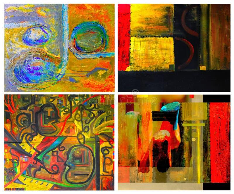 Τέσσερις περιλήψεις στοκ εικόνα με δικαίωμα ελεύθερης χρήσης