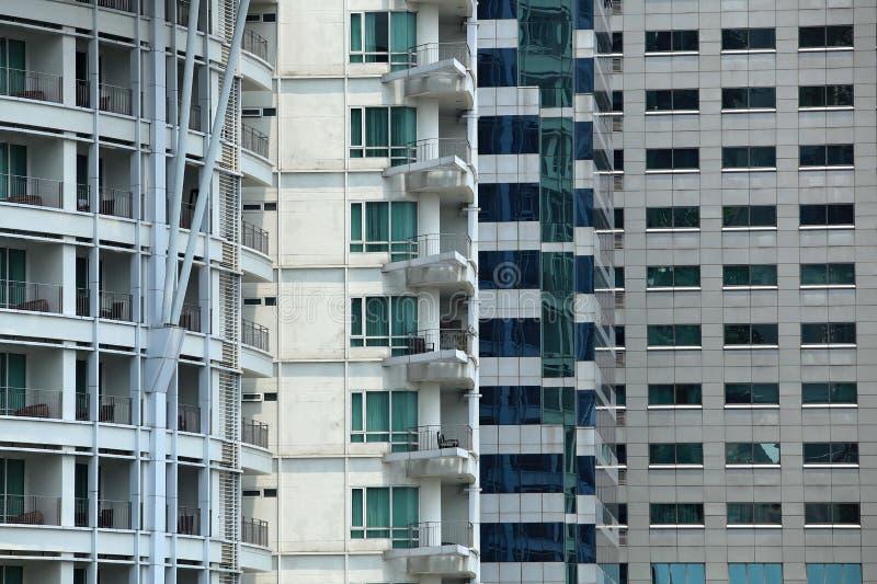 Τέσσερις τύποι οικοδομήσεων στοκ εικόνες
