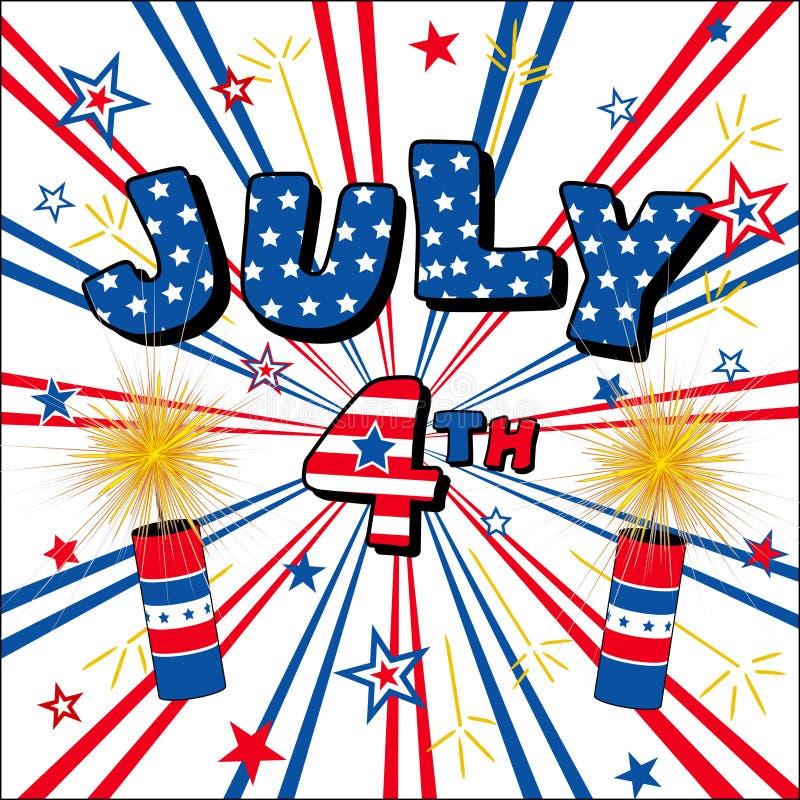 τέταρτος Ιουλίου διανυσματική απεικόνιση