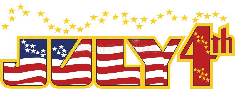 τέταρτος Ιουλίου ελεύθερη απεικόνιση δικαιώματος