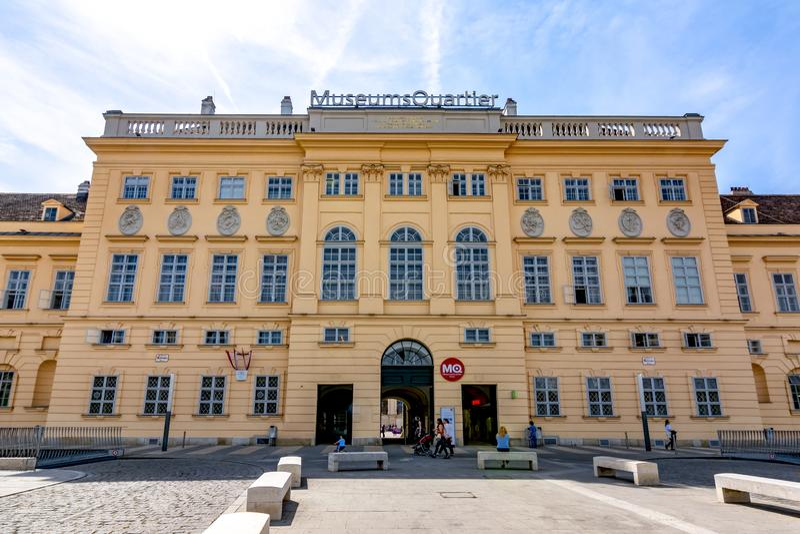 τέταρτο Βιέννη μουσείων τη&sig στοκ εικόνες