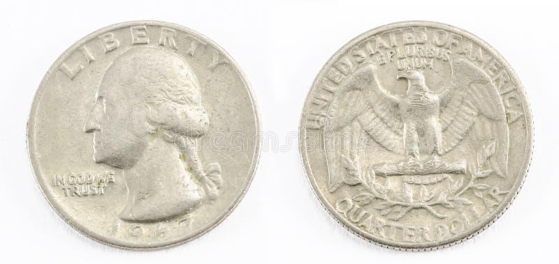 Τέταρτο του δολαρίου στοκ φωτογραφία με δικαίωμα ελεύθερης χρήσης