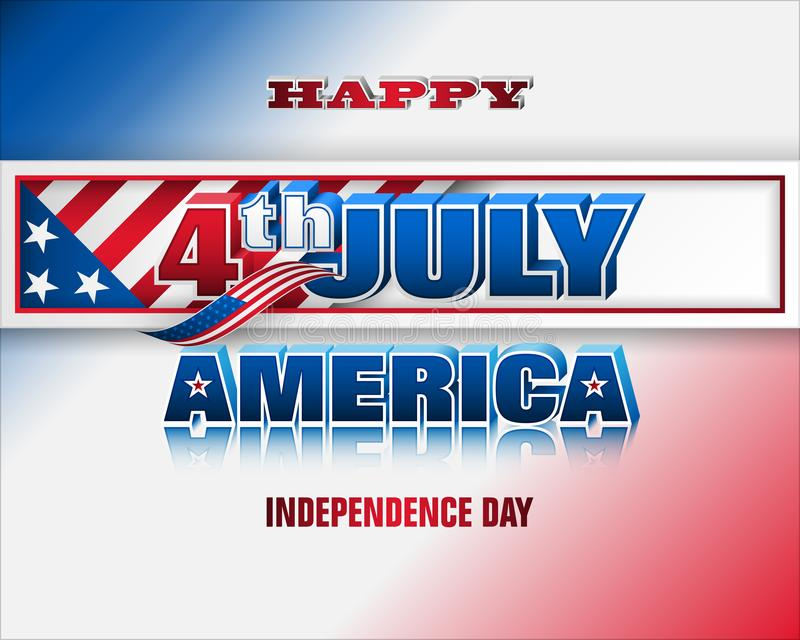 Τέταρτο του Ιουλίου, Αμερική, εορτασμός ημέρας της ανεξαρτησίας διανυσματική απεικόνιση