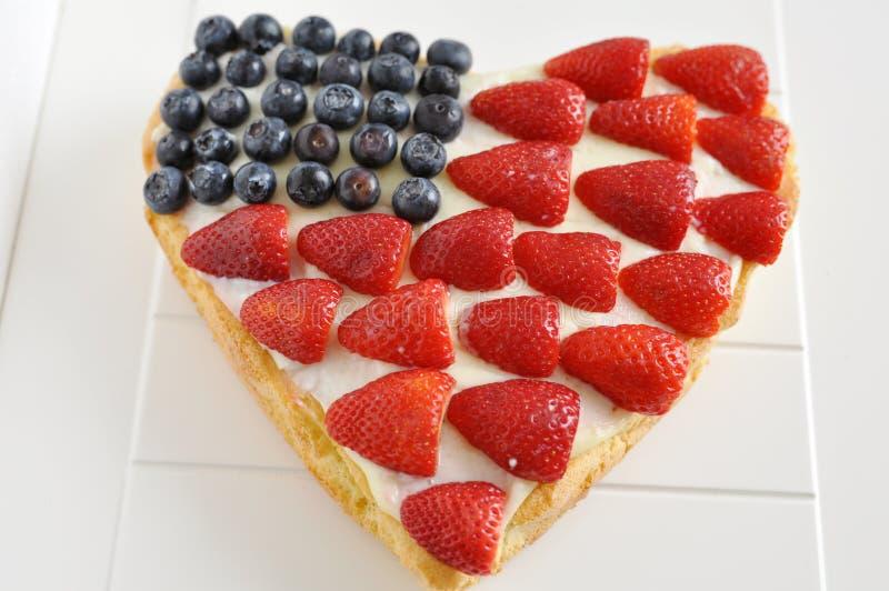 Τέταρτο του κέικ Ιουλίου στοκ εικόνα