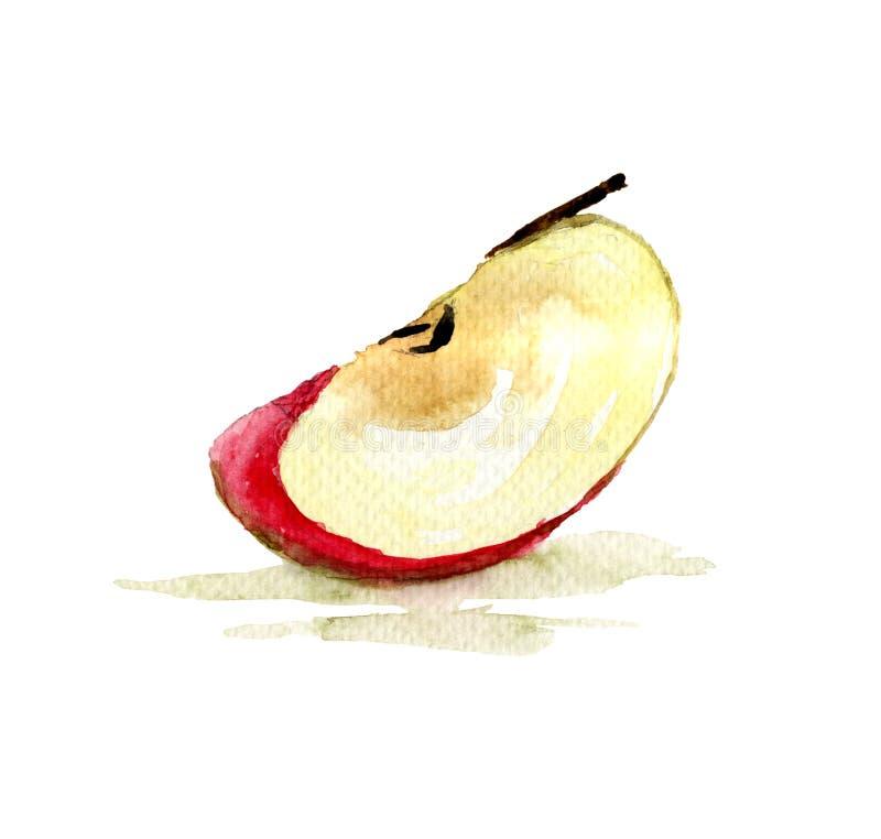Τέταρτο του μήλου διανυσματική απεικόνιση
