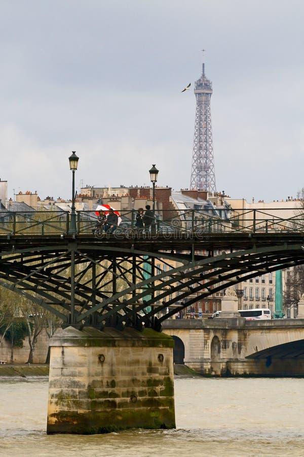 τέχνες des Γαλλία Παρίσι pont στοκ εικόνες