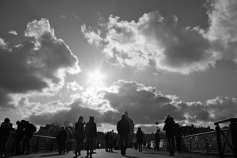 τέχνες des Παρίσι pont στοκ φωτογραφία με δικαίωμα ελεύθερης χρήσης