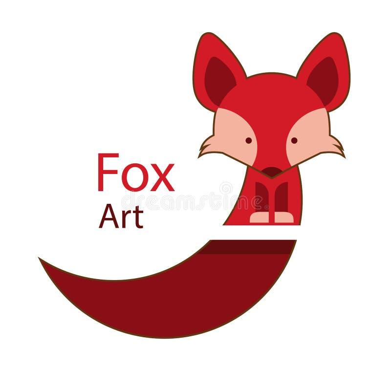 Τέχνη αλεπούδων ελεύθερη απεικόνιση δικαιώματος