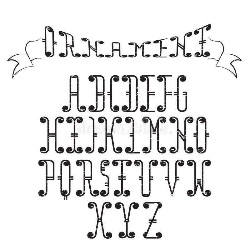 Τέχνη αλφάβητου Swirly διανυσματική απεικόνιση