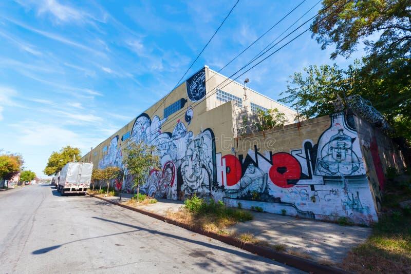 Τέχνη γκράφιτι στο σημείο κυνηγιών, Bronx , NYC στοκ εικόνα