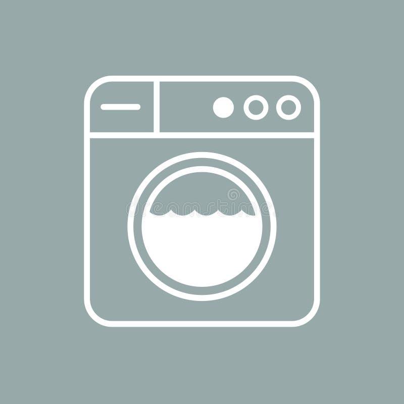 Τέχνη γραμμών πλυντηρίων διανυσματική απεικόνιση