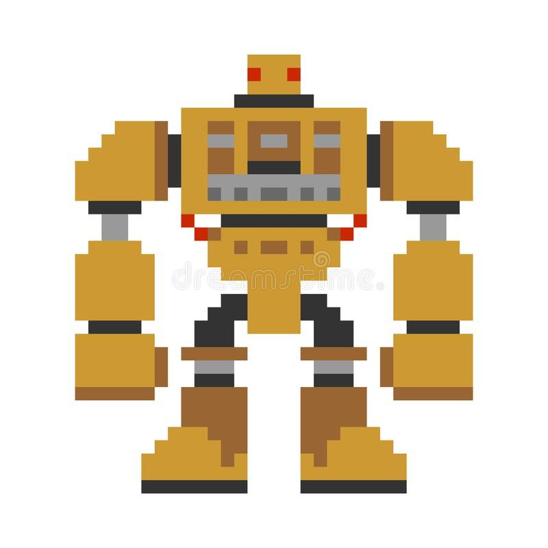 Τέχνη εικονοκυττάρου ρομπότ οκτάμπιτο μέλλον πολεμιστών Cyborg Διανυσματικό Illustratio απεικόνιση αποθεμάτων