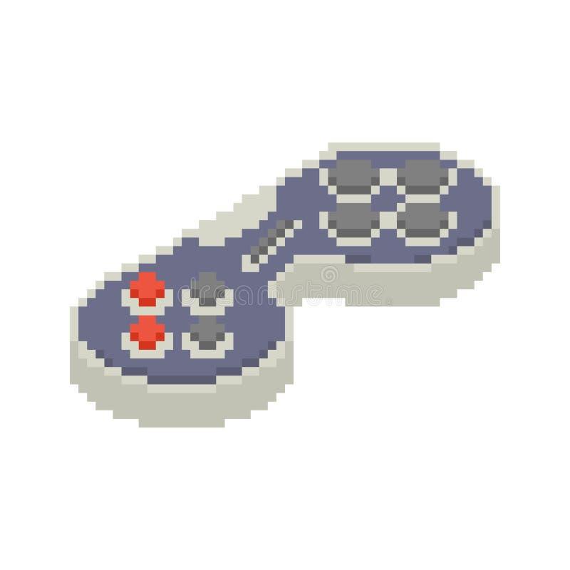 Τέχνη εικονοκυττάρου Gamepad Πηδάλιο οκτάμπιτο Τηλεοπτικός έλεγχος παλιού σχολείου παιχνιδιών ελεύθερη απεικόνιση δικαιώματος