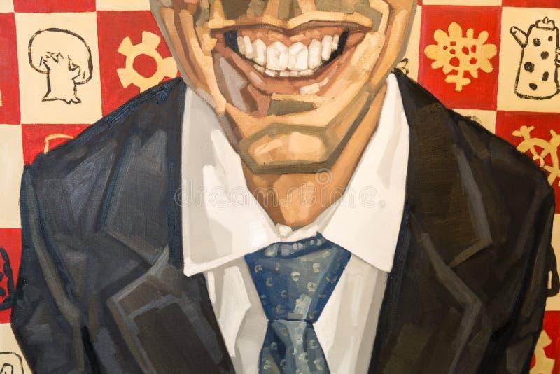 Τέχνη ζωγραφικής: Πρόσωπο, κινηματογράφηση σε πρώτο πλάνο του στόματος, χείλι, νυκτικό στοκ φωτογραφία