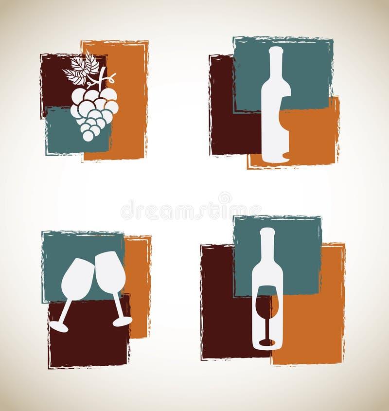 Τέχνη κρασιού απεικόνιση αποθεμάτων