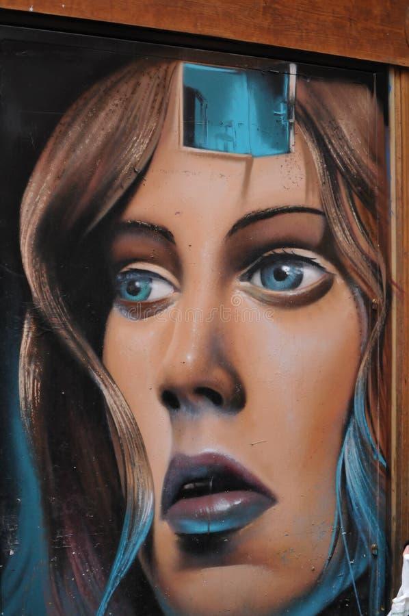 Τέχνη Μαδρίτη γκράφιτι στοκ εικόνα