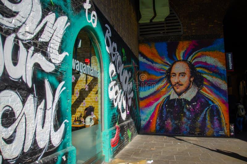 Τέχνη οδών του Λονδίνου - χρώμα στοκ φωτογραφία με δικαίωμα ελεύθερης χρήσης