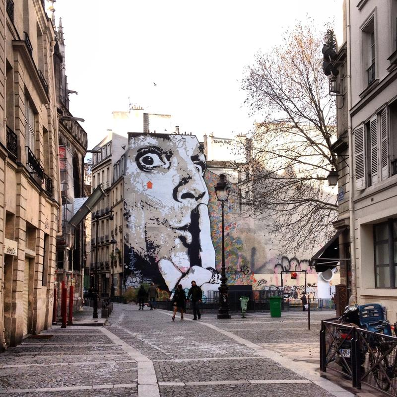 Τέχνη οδών του Παρισιού στοκ φωτογραφίες με δικαίωμα ελεύθερης χρήσης