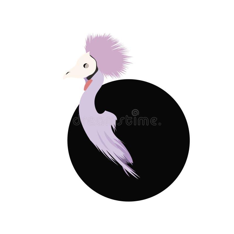 Τέχνη πουλιών με μια μάσκα κρανίων στοκ φωτογραφία με δικαίωμα ελεύθερης χρήσης