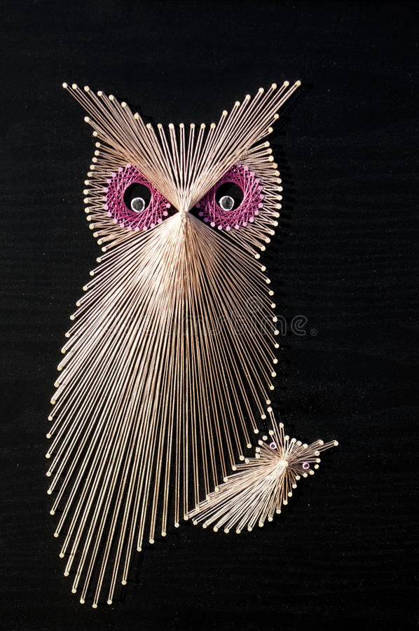 Τέχνη συμβολοσειράς κουκουβαγιών στοκ εικόνα με δικαίωμα ελεύθερης χρήσης