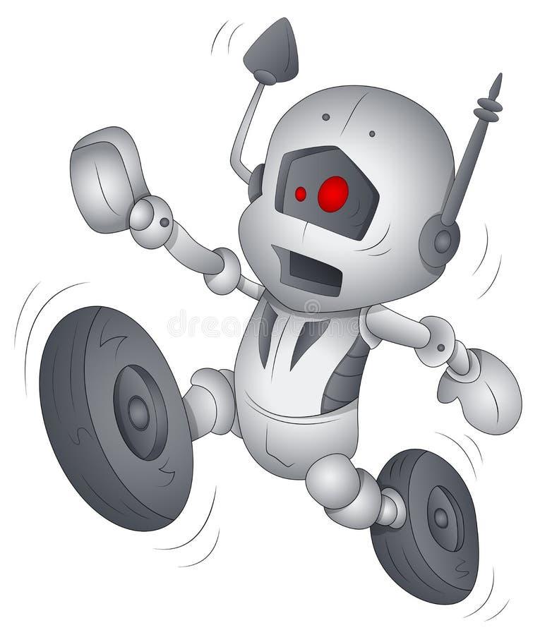 Αστείο ρομπότ - χαρακτήρας κινουμένων σχεδίων - διανυσματική απεικόνιση ελεύθερη απεικόνιση δικαιώματος