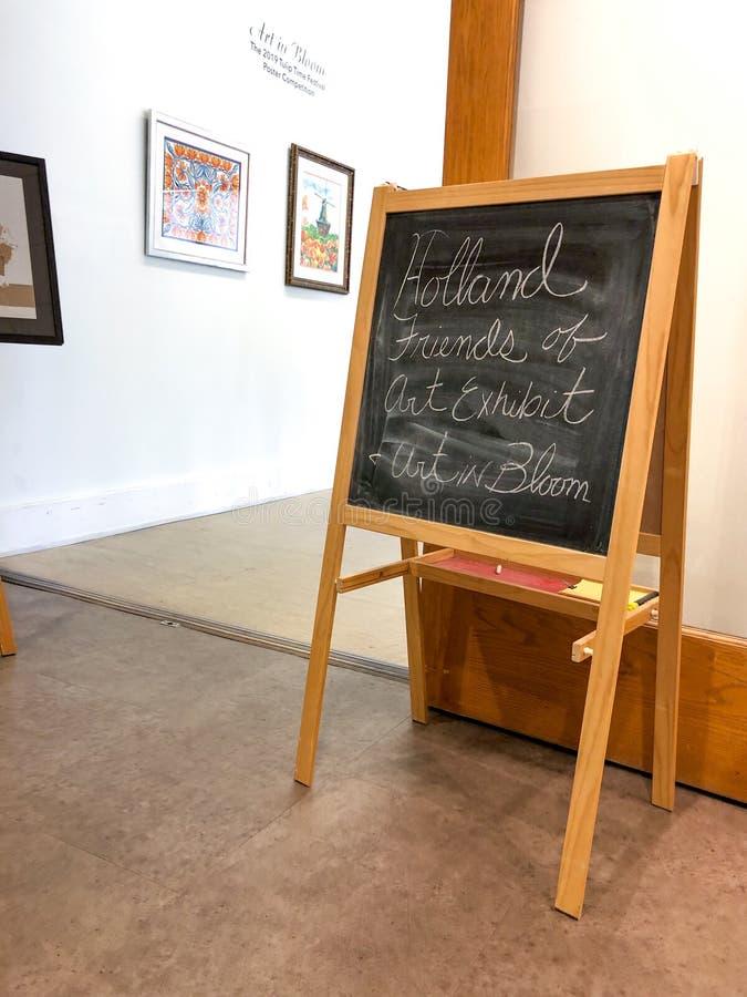 Τέχνη της Ολλανδίας στο σημάδι εισόδων στοών πινάκων κιμωλίας άνθισης στοκ εικόνα