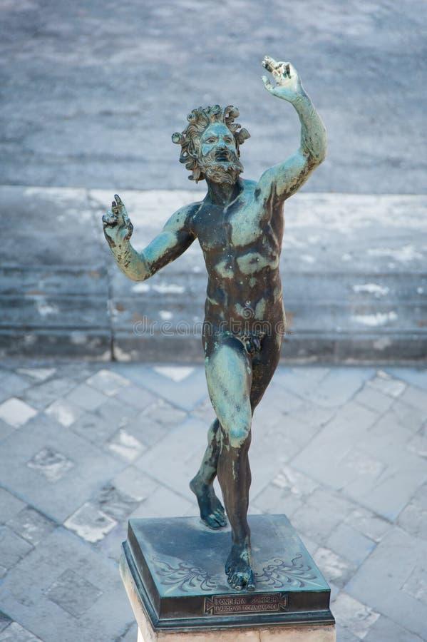 Τέχνη της Πομπηίας - σπίτι του φαύνου στοκ φωτογραφία με δικαίωμα ελεύθερης χρήσης